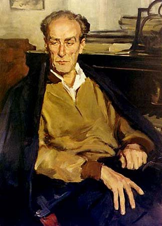 Portrait of E.A. Mravinsky (1957) by Lev Russov
